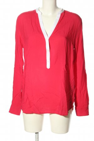 Tommy Hilfiger Schlupf-Bluse rot-weiß Casual-Look
