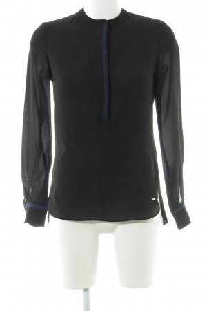 Tommy Hilfiger Schlupf-Bluse schwarz-blau Elegant
