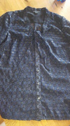 Tommy Hilfiger Schluppen Bluse Dots blau Gr.36