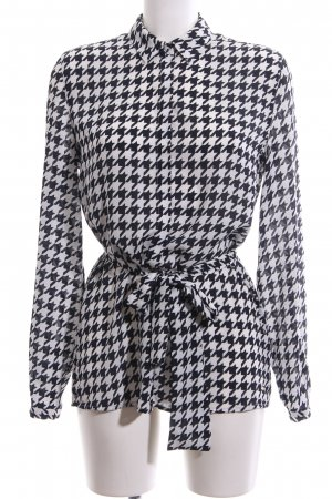 Tommy Hilfiger Tie-neck Blouse white-black allover print business style