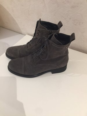 Tommy Hilfiger Bottes à lacets noir-gris cuir