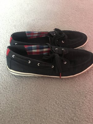 Tommy Hilfiger Zapatos de marinero azul oscuro Algodón