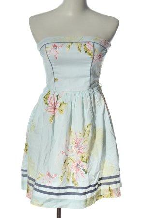 Tommy Hilfiger Vestido strapless estampado floral elegante