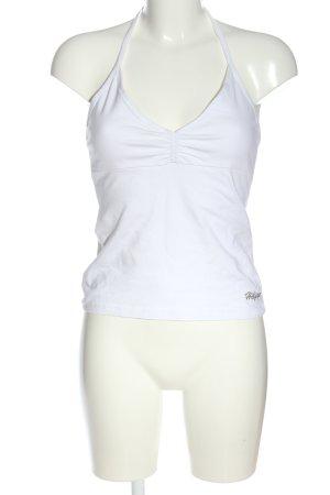 Tommy Hilfiger Top z dekoltem typu halter biały W stylu casual