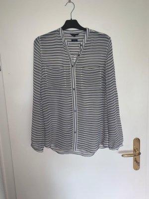 Tommy Hilfiger Jedwabna bluzka w kolorze białej wełny-błękitny