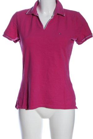Tommy Hilfiger Shirt pink-hellgrau Streifenmuster Casual-Look
