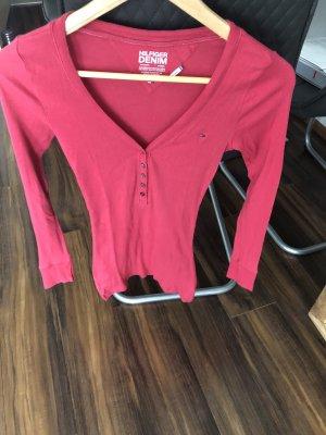 Tommy Hilfiger Denim Ribbed Shirt magenta