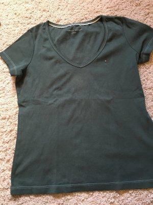 Tommy Hilfiger T-shirt petrol-cadet blauw Gemengd weefsel