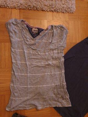 Tommy Hilfiger shirt grau weiß s