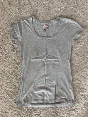 Tommy Hilfiger Denim Camiseta gris claro-color plata