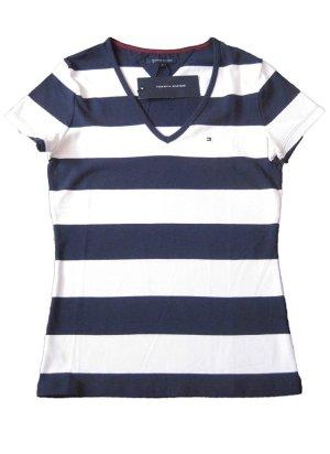 Tommy Hilfiger Shirt Marine-Weiß Gr. XS