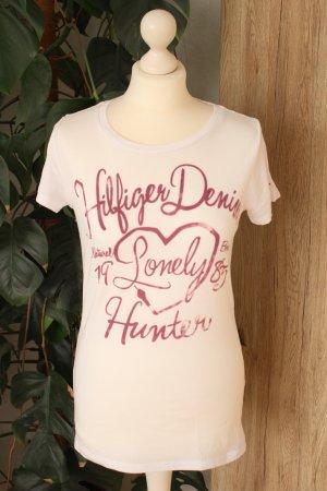 Tommy Hilfiger Shirt Weiß Print T-Shirt M 38