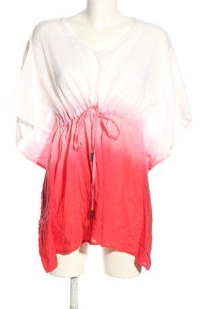 Tommy Hilfiger Shirttunika weiß-rot Farbverlauf Casual-Look