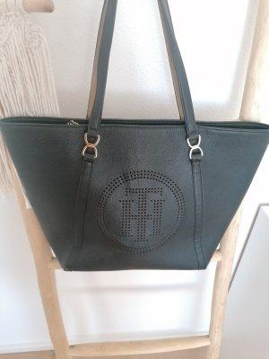 Tommy Hilfiger Shopper noir-brun sable cuir