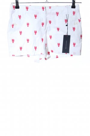 Tommy Hilfiger Shorts weiß-rot Allover-Druck Casual-Look