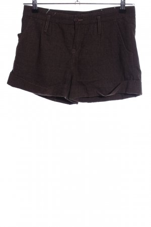 Tommy Hilfiger Shorts braun Webmuster Casual-Look