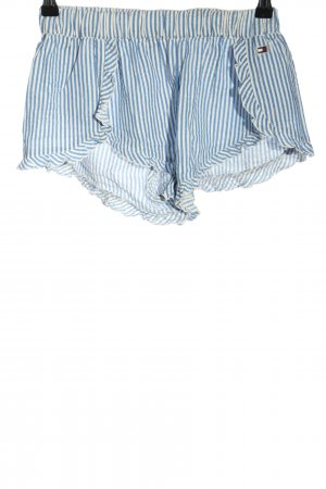 Tommy Hilfiger Shorts blau-weiß Schriftzug gedruckt Casual-Look