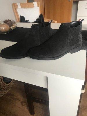 Tommy Hilfiger Signature - Chelsea Boots aus Leder  schwarz