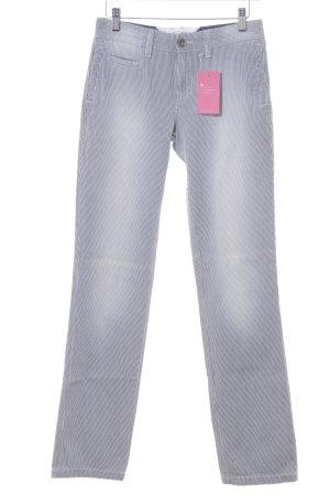 Tommy Hilfiger Skinny Jeans stahlblau-weiß Streifenmuster Casual-Look