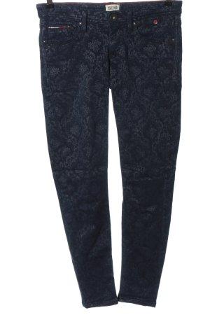Tommy Hilfiger Slim Jeans blau Allover-Druck Casual-Look