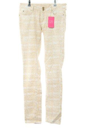 Tommy Hilfiger Slim Jeans creme-weiß Allover-Druck extravaganter Stil