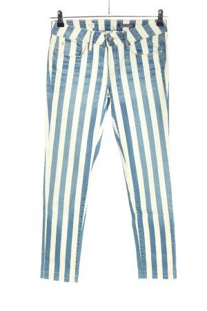 Tommy Hilfiger Slim Jeans blau-weiß Streifenmuster Casual-Look