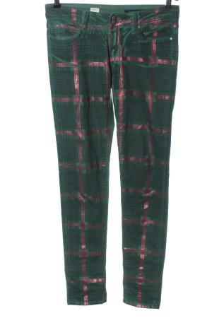 Tommy Hilfiger Slim Jeans grün Karomuster Casual-Look