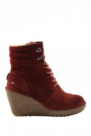 Tommy Hilfiger Slouch Stiefeletten rot Casual-Look