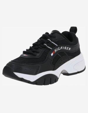 Tommy Hilfiger Sneaker con tacco nero-bianco