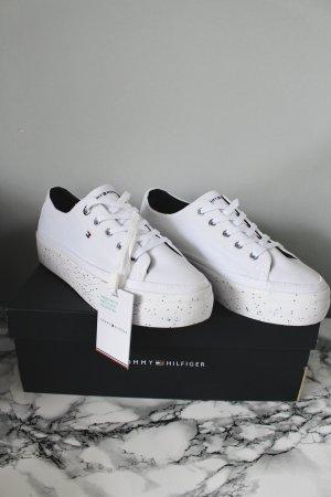 Tommy Hilfiger Sneaker Plateau Weiß mit Glitzer NEU