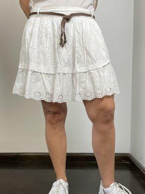 Tommy Hilfiger Denim Lace Skirt white cotton