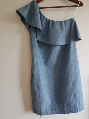 Tommy Hilfiger One Shoulder Dress steel blue cotton