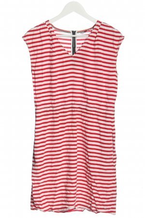 Tommy Hilfiger Sommerkleid weiß-rot Streifenmuster Casual-Look