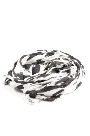 Tommy Hilfiger Sommerschal weiß-schwarz abstraktes Muster Casual-Look
