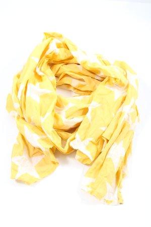 Tommy Hilfiger Chal veraniego amarillo pálido-blanco estampado temático