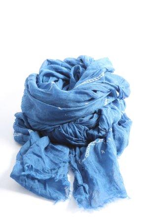 Tommy Hilfiger Chal veraniego azul-blanco estampado temático look casual