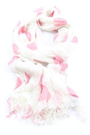 Tommy Hilfiger Sommerschal weiß-pink Allover-Druck Elegant