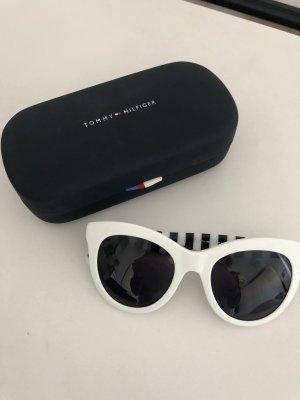 Tommy Hilfiger Ronde zonnebril wit-zwart