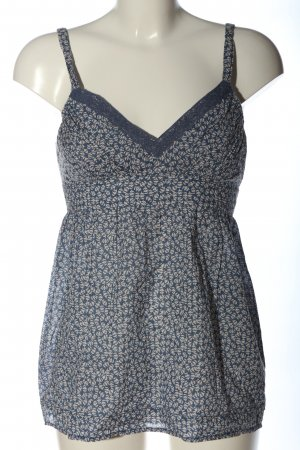 Tommy Hilfiger Spaghetti Strap Top blue-white abstract pattern elegant