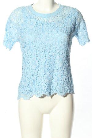 Tommy Hilfiger Blusa in merletto blu stampa integrale stile casual