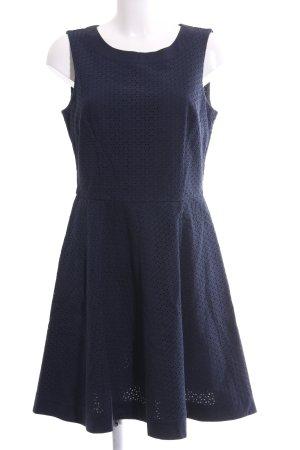 Tommy Hilfiger Kanten jurk blauw casual uitstraling