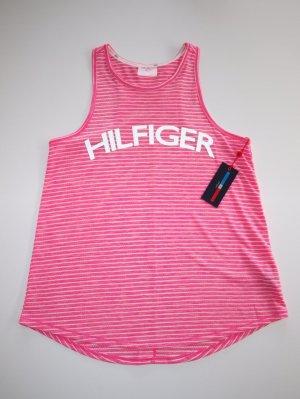 Tommy Hilfiger Top sportowy biały-różowy