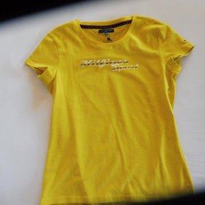 Tommy Hilfiger Sport T-Shirt Gelb Logodruck vorne Neu!