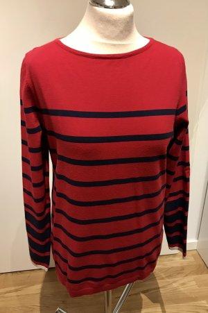 Tommy Hilfiger: Sportlicher Pullover Rot Blau Streifen Gr. M