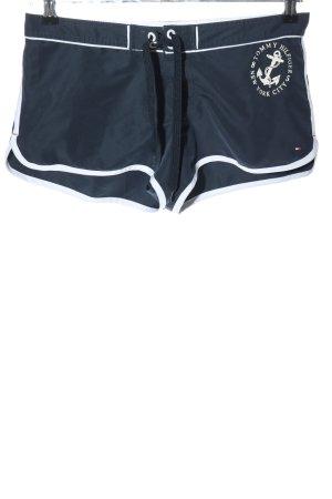 Tommy Hilfiger Sportshorts blau-weiß Motivdruck Casual-Look