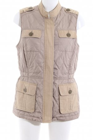 Tommy Hilfiger Quilted Gilet natural white-cream quilting pattern casual look