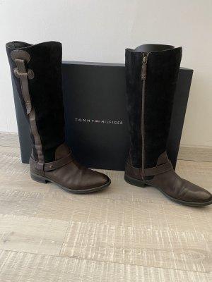 Tommy Hilfiger Botas de equitación marrón oscuro-azul oscuro
