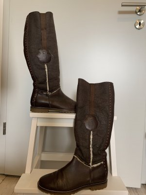 Tommy Hilfiger Laarzen met bont bruin-donkerbruin