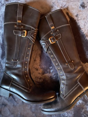 Tommy Hilfiger Slouch Boots dark brown