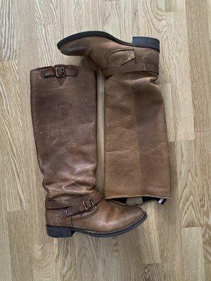 Tommy Hilfiger Denim Riding Boots cognac-coloured-light brown leather